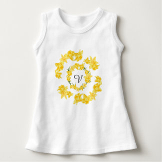 Daffodils illustration dress