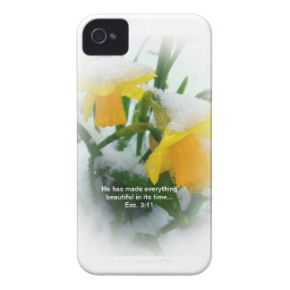 Daffodils in the Snow case Case-Mate iPhone 4 Case
