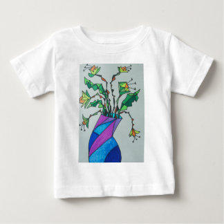 Daffodils in vase baby T-Shirt