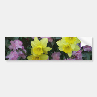 Daffodils/Narcissus/Azalea Car Bumper Sticker