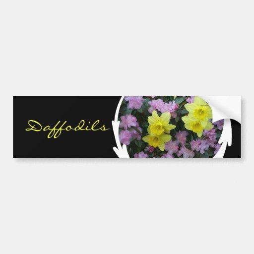 Daffodils/Narcissus/Azalea Bumper Sticker