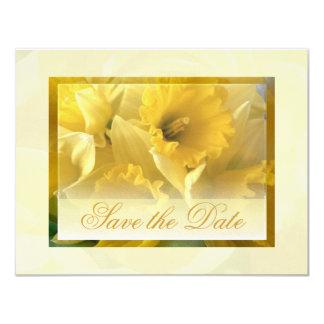 daffodils save the date 2 11 cm x 14 cm invitation card