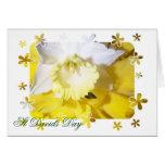Daffodils St Davids Day Stationery Note Card