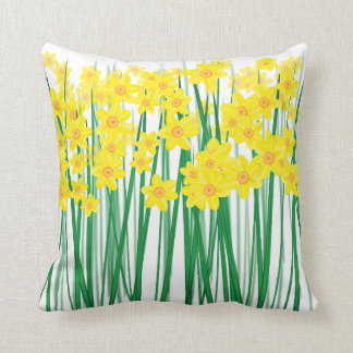 Daffodils. Throw Pillow