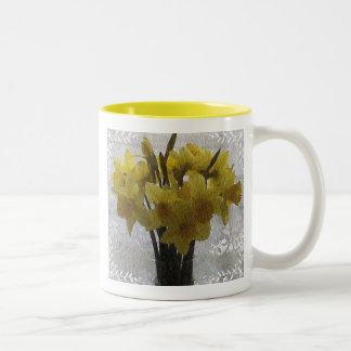 Daffodils Two-Tone Coffee Mug