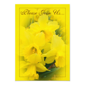 Daffodils Wedding II 13 Cm X 18 Cm Invitation Card