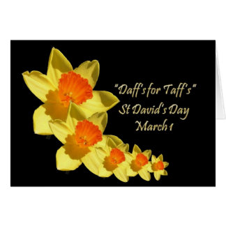Daffs For Taffs (Black Backgound) Greeting Card