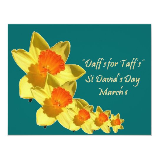 Daffs For Taffs Isolated 11 Cm X 14 Cm Invitation Card