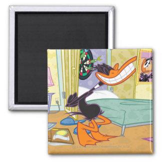 Daffy Big Smile Square Magnet