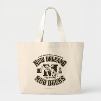 DAFFY DUCK™ New Orleans Mud Ducks Logo 2 Large Tote Bag