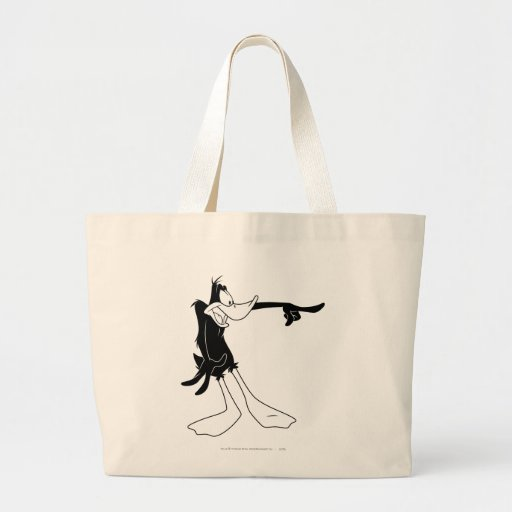 Daffy Duck Shocked and Pointing Canvas Bags