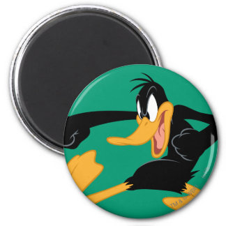 Daffy the Duck Swinging a Punch Fridge Magnet