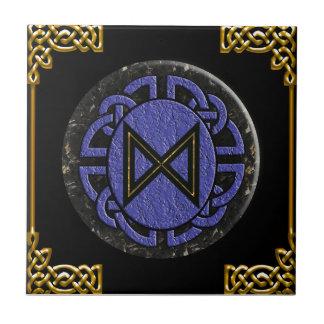 """""""dagaz"""" elder futhark small square tile"""