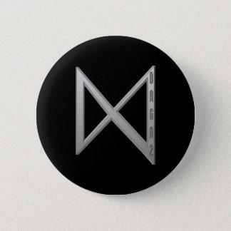 Dagaz Rune grey 6 Cm Round Badge