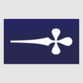 Dagger 1 rectangular sticker