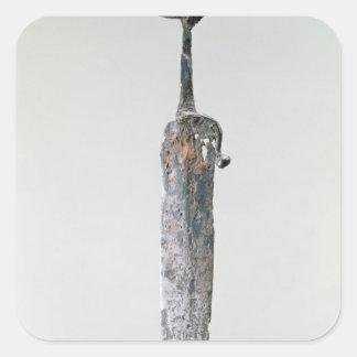 Dagger Halstatt Culture c 750-450 BC Square Stickers