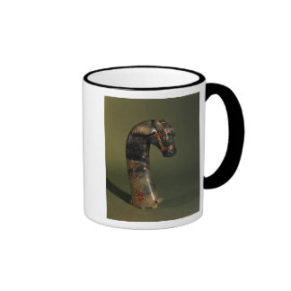 Dagger handle in the form of a horse s head coffee mug