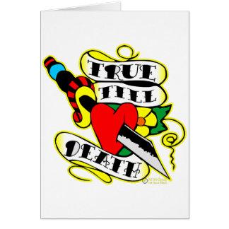 Dagger & Heart True Till Death Greeting Card