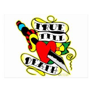 Dagger & Heart True Till Death Postcard