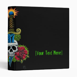 Dagger, Skull, and Roses Binder Template