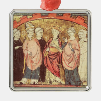 Dagobert I , King of Franks receiving the Kingdom Christmas Ornament