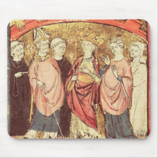 Dagobert I , King of Franks receiving the Kingdom Mouse Mat
