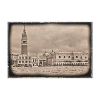 Daguerreotype image of Venice Canvas Print
