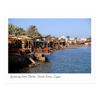 Dahab Restaurants, South Sinai, Egypt Postcard