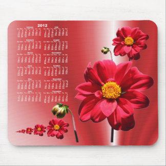 Dahlia 2 calendar ~ mousepad