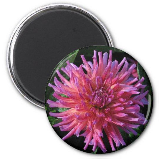 Dahlia 6 Cm Round Magnet