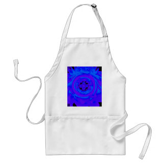 Dahlia Abstract, Blue, Purple Standard Apron