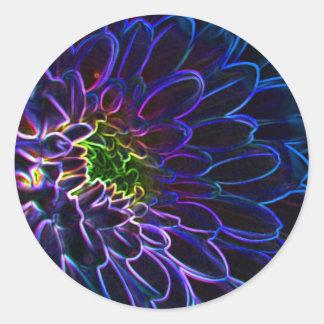 dahlia art classic round sticker