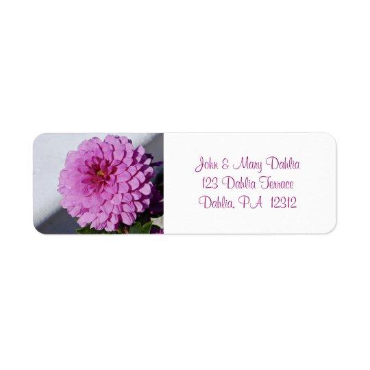 Dahlia Avery Return Address Label
