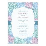 "Dahlia blooms girl baby shower invite 3541 5"" x 7"" invitation card"
