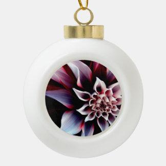 Dahlia Ceramic Ball Christmas Ornament