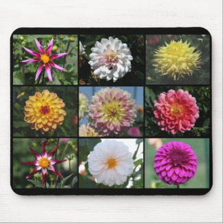 Dahlia collage 07 mouse mat
