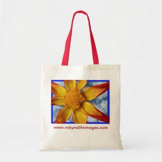 Dahlia Design Tote Bag