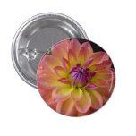 Dahlia Flower Bloom 3 Cm Round Badge