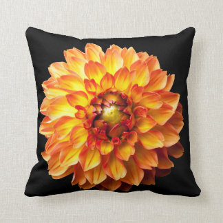 Dahlia flower cushion. cushion