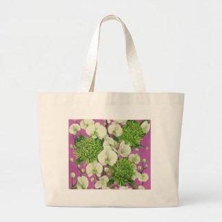 Dahlia flower design. tote bag