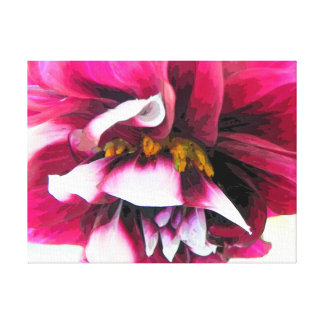 Dahlia Flower Fun Gallery Wrapped Canvas