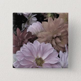 Dahlia Flower Garden Abstract Floral Button