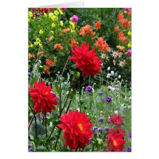 Dahlia Flower Garden Card