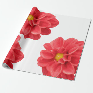 Dahlia Flower Gift Wrap Wrapping Paper