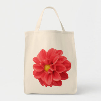Dahlia Flower Graphic Grocery Tote Bag