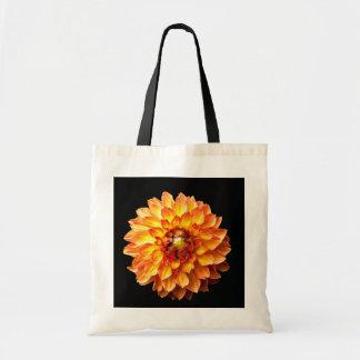 Dahlia flower tote bag.