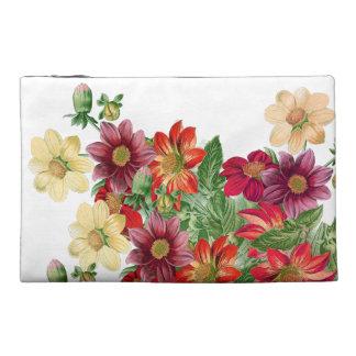 Dahlia Flowers Floral Vintage Accessory Bag