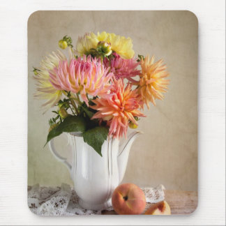 Dahlia Flowers Mouse Mat