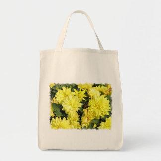 Dahlia Flowers Organic Grocery Tote Bag