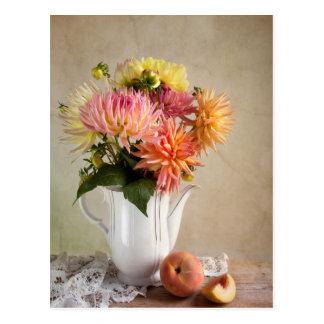 Dahlia Flowers Postcard